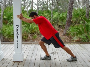 Standing Runners soleus calf Stretch